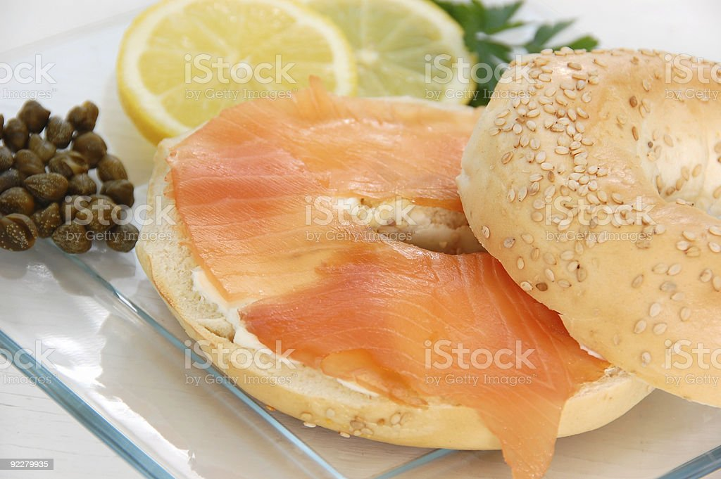 Bagel and Lox royalty-free stock photo