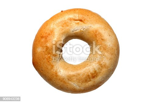 Bagel bread roll isolated on a white background