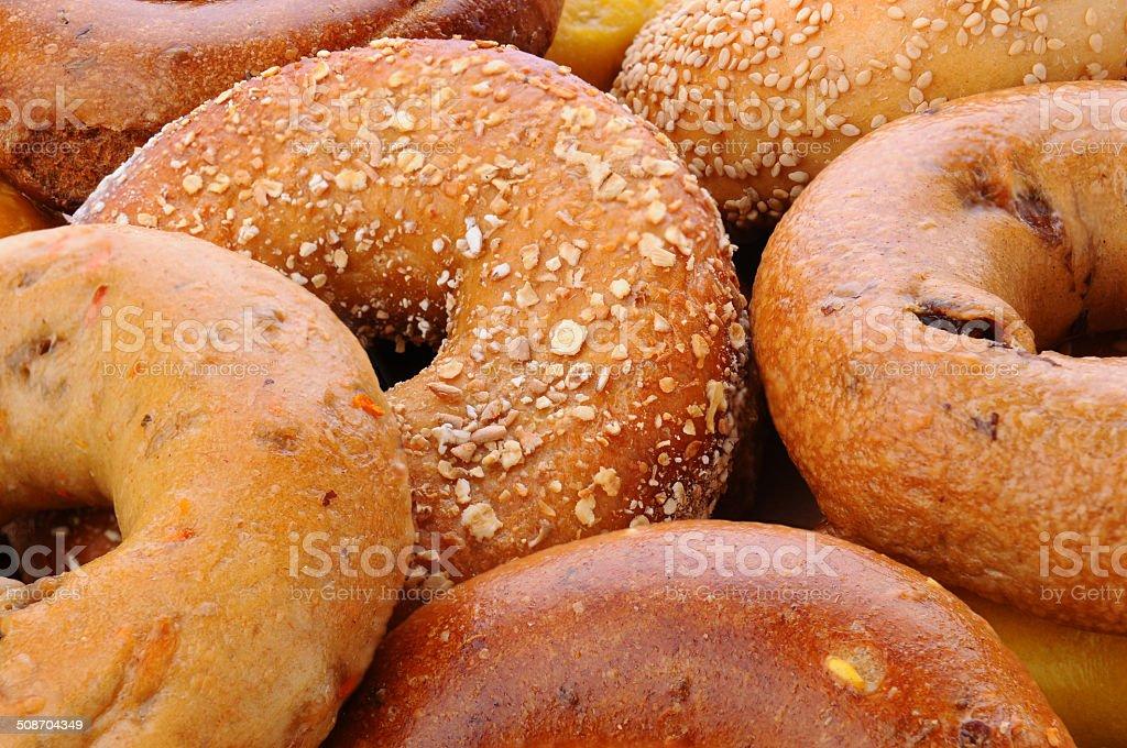 Bagel Closeup stock photo