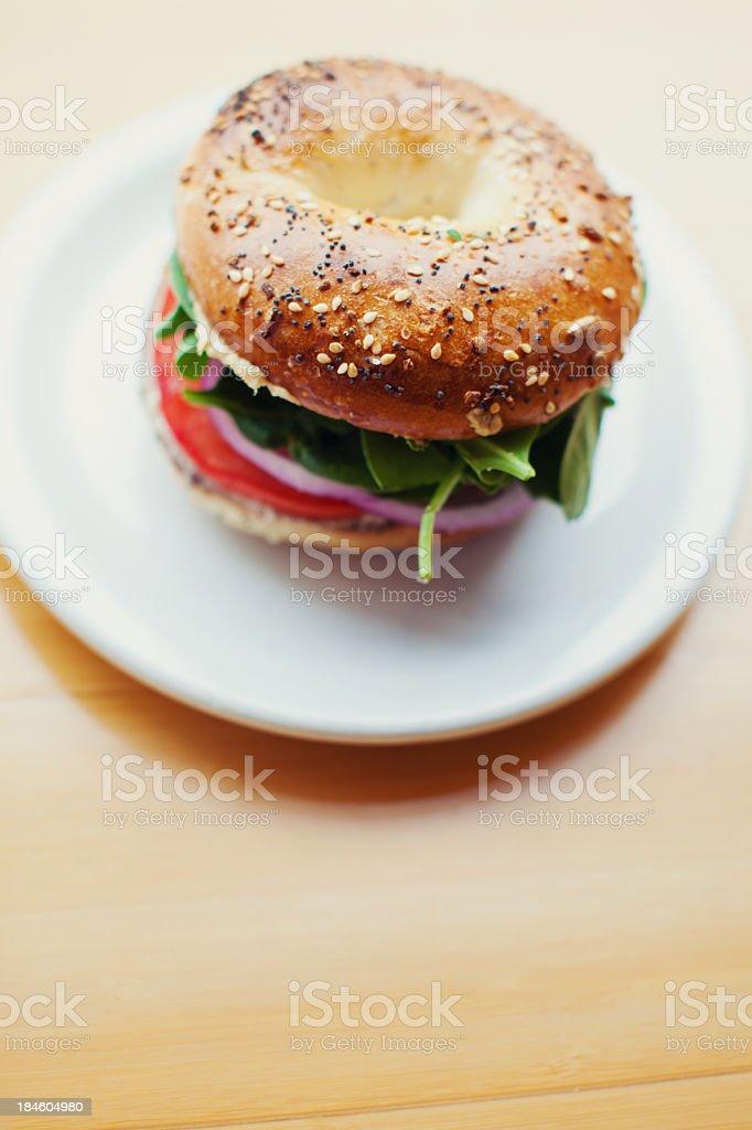 Bagel Deli Sandwich stock photo