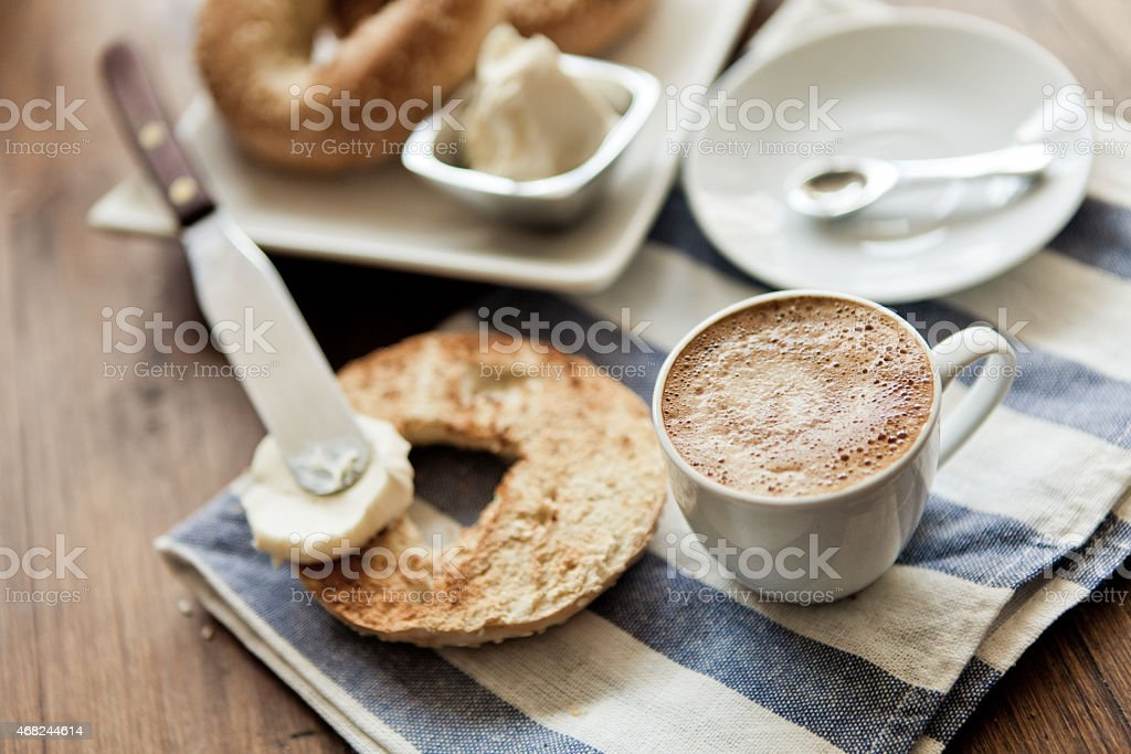Bagel For Breakfast stock photo