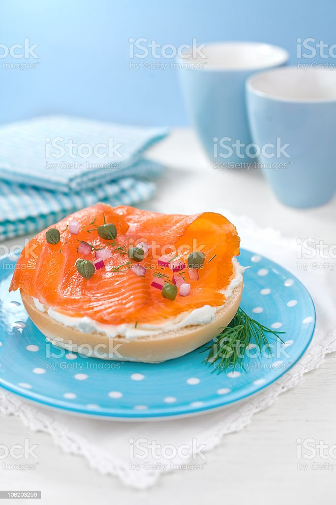 Bagel & Lox royalty-free stock photo