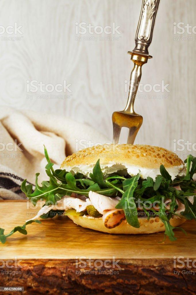 Bagel Sandwich - foto stock