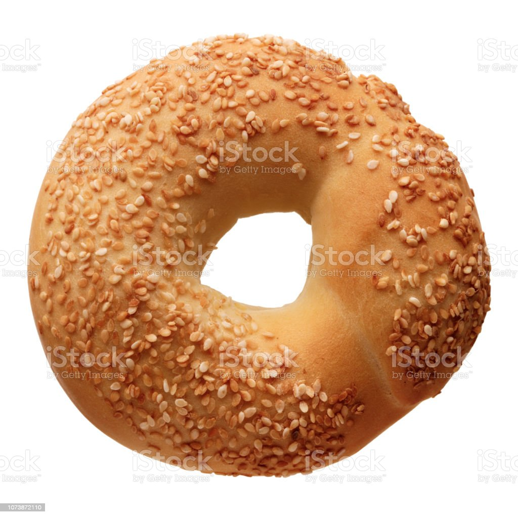 Bagel with sesame seeds stock photo
