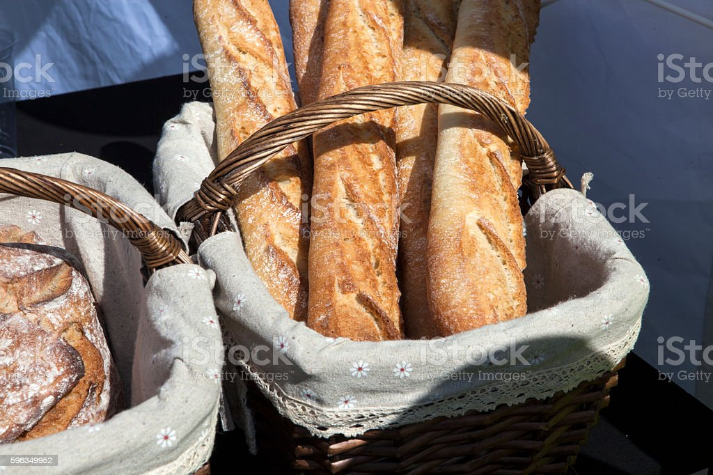 Bagels in the basket royalty-free stock photo