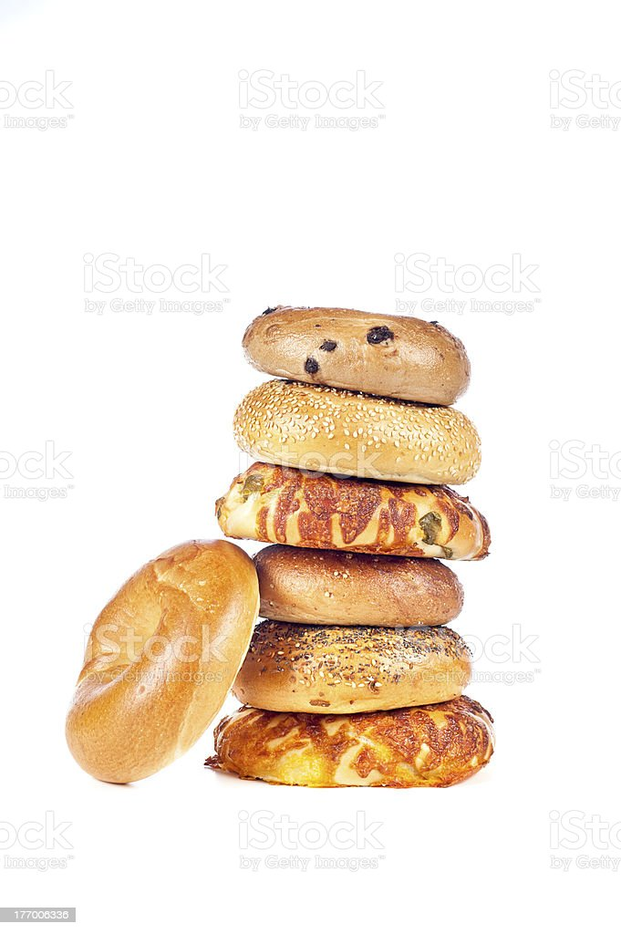 Bagels on white background royalty-free stock photo