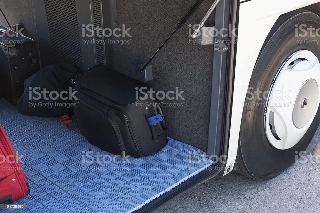baggage at bus stock photo