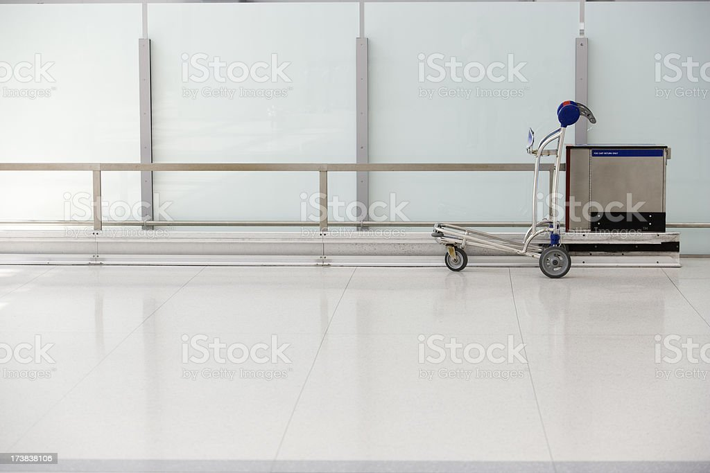 Baggage cart at the airport royalty-free stock photo