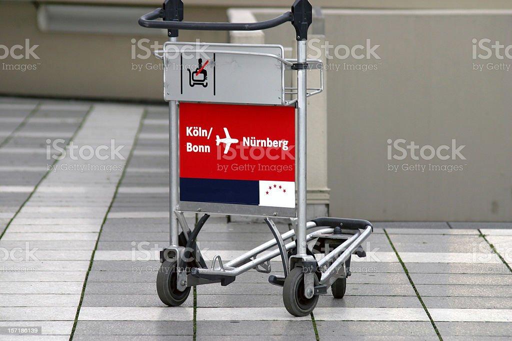 Baggage carts royalty-free stock photo