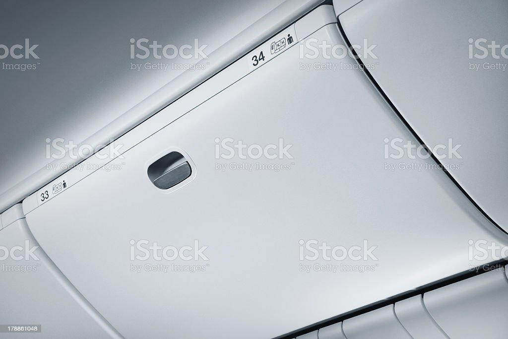 Baggage compartment royalty-free stock photo