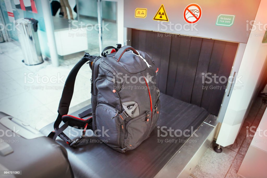 Baggage security screening stock photo