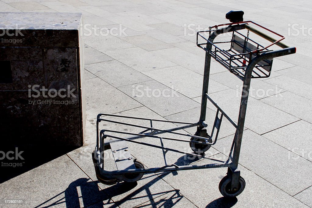 Baggage trolley royalty-free stock photo