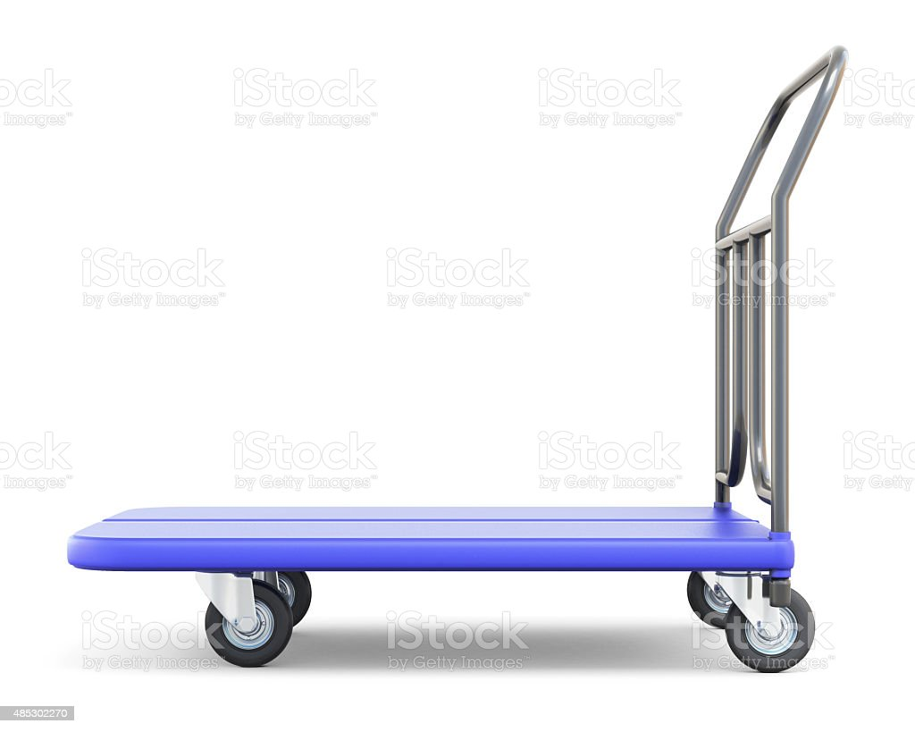 Baggage trolley side view stock photo