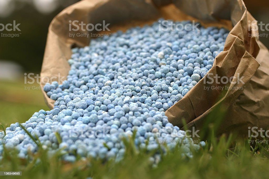 Bagged Fertilizer stock photo