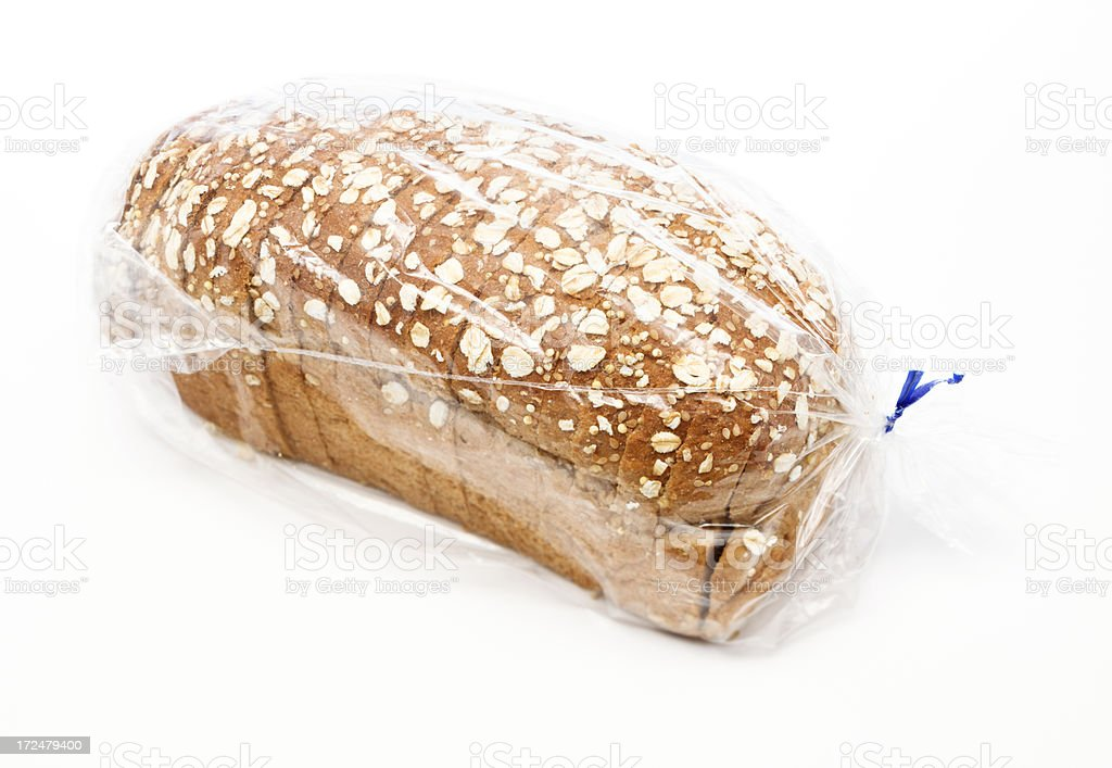 Bagged Whole Wheat Bread royalty-free stock photo