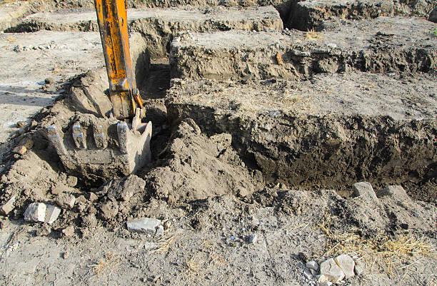 Bagger digging stock photo