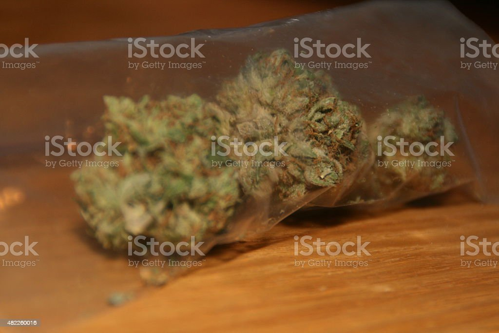 Baggie of Weed stock photo