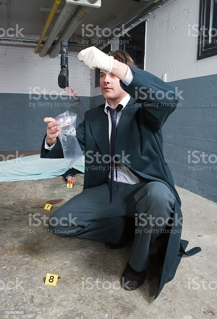 Bagging evidence royalty-free stock photo