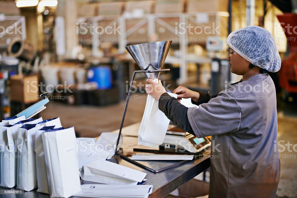 Bagging only the best stock photo