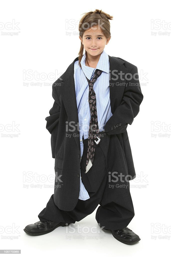 Baggy Suit Girl stock photo