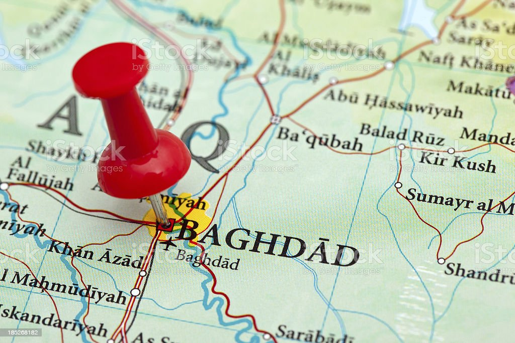 Baghdad Map Iraq Stock Photo & More Pictures of Asia - iStock
