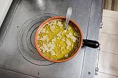 Bagna cauda. Italian dish of Piedmontese cuisine