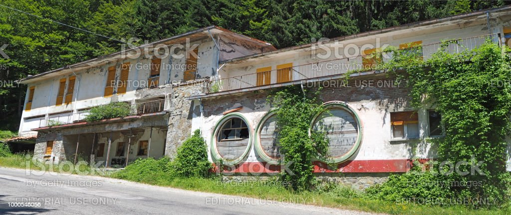 Bagno di romagna italy abandoned restaurant on the road to the mandrioli mountain pass stock - Week end bagno di romagna ...