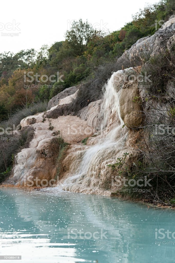 Bagno Vignoni hot spring of thermal water, Tuscany - Italy stock photo