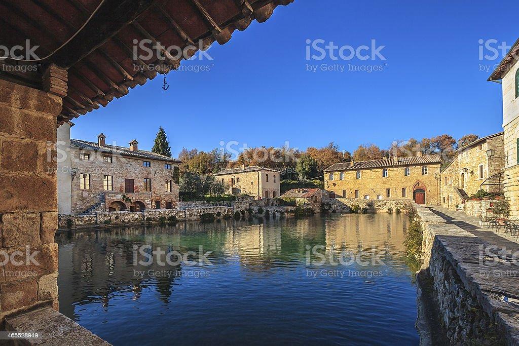 Bagno Vignoni, Tuscany, Italy royalty-free stock photo