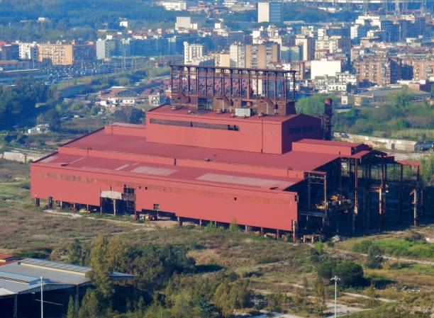 bagnoli - archeologia industriale - bioremediation stock photos and pictures