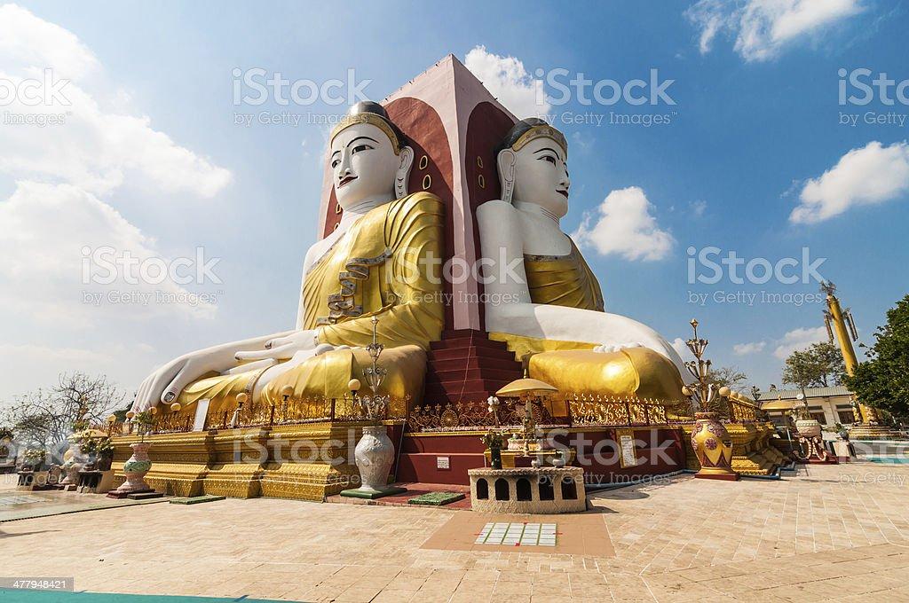 Bago,Myanmar-22 February 2014: kyikepun, four faces pagoda stock photo
