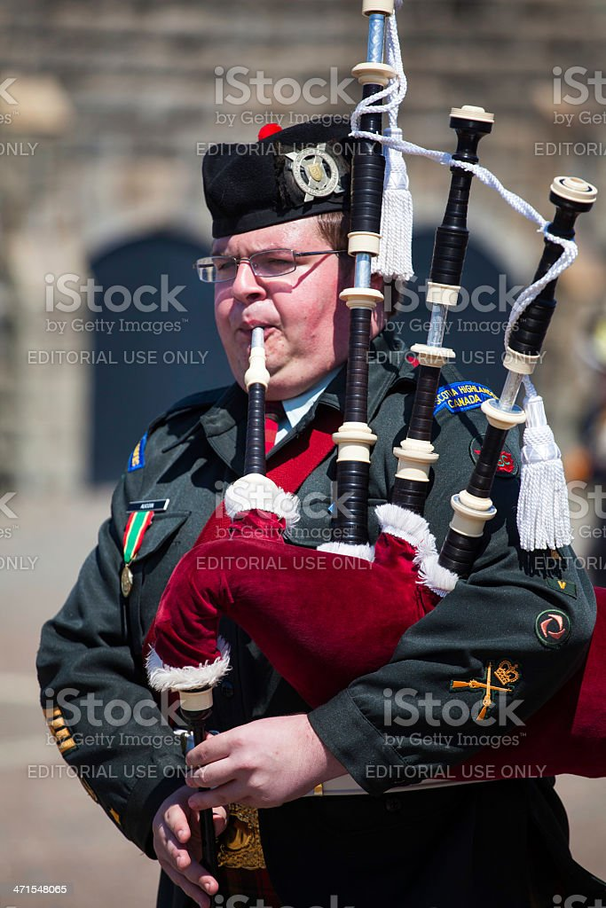 Bagpipe Player royalty-free stock photo