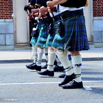 Bagpipers marking time for Memorial Day, square. OLYMPUS DIGITAL CAMERA