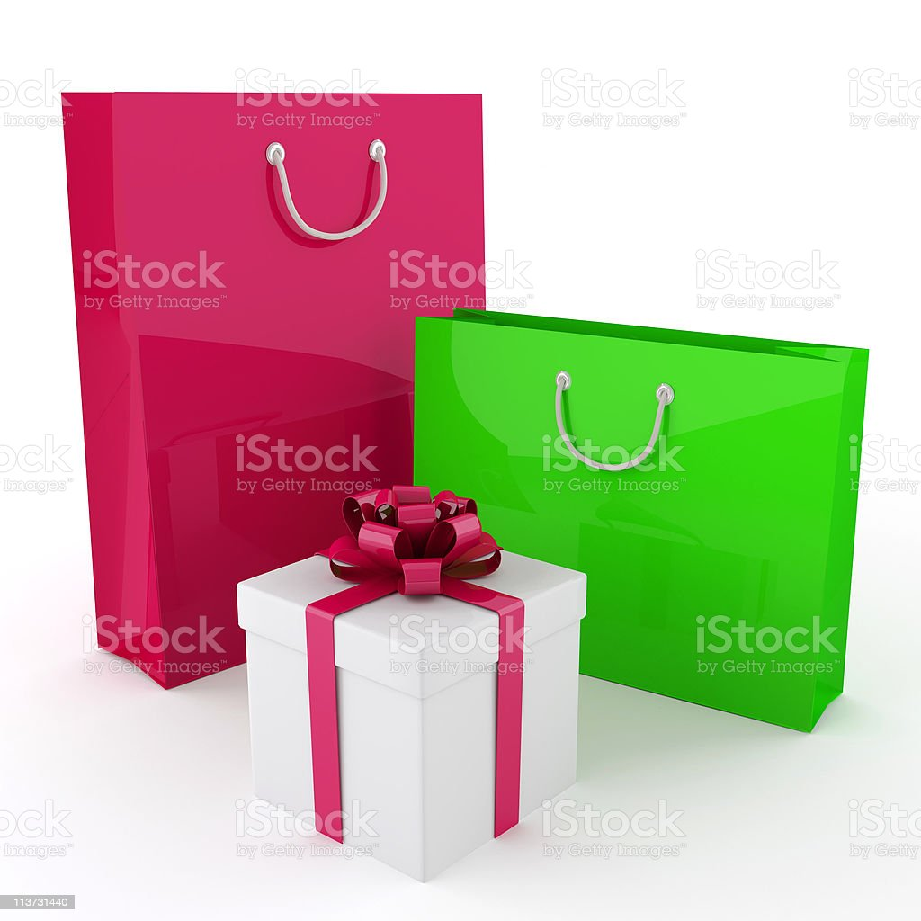 Bags and box royalty-free stock photo