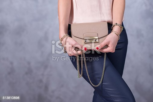 509923232istockphoto Bags fashion trends. Close up of gorgeous stylish bag 513810898