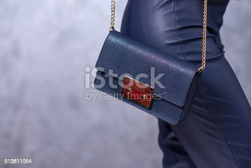 509923232istockphoto Bags fashion trends. Close up of gorgeous stylish bag 513811054