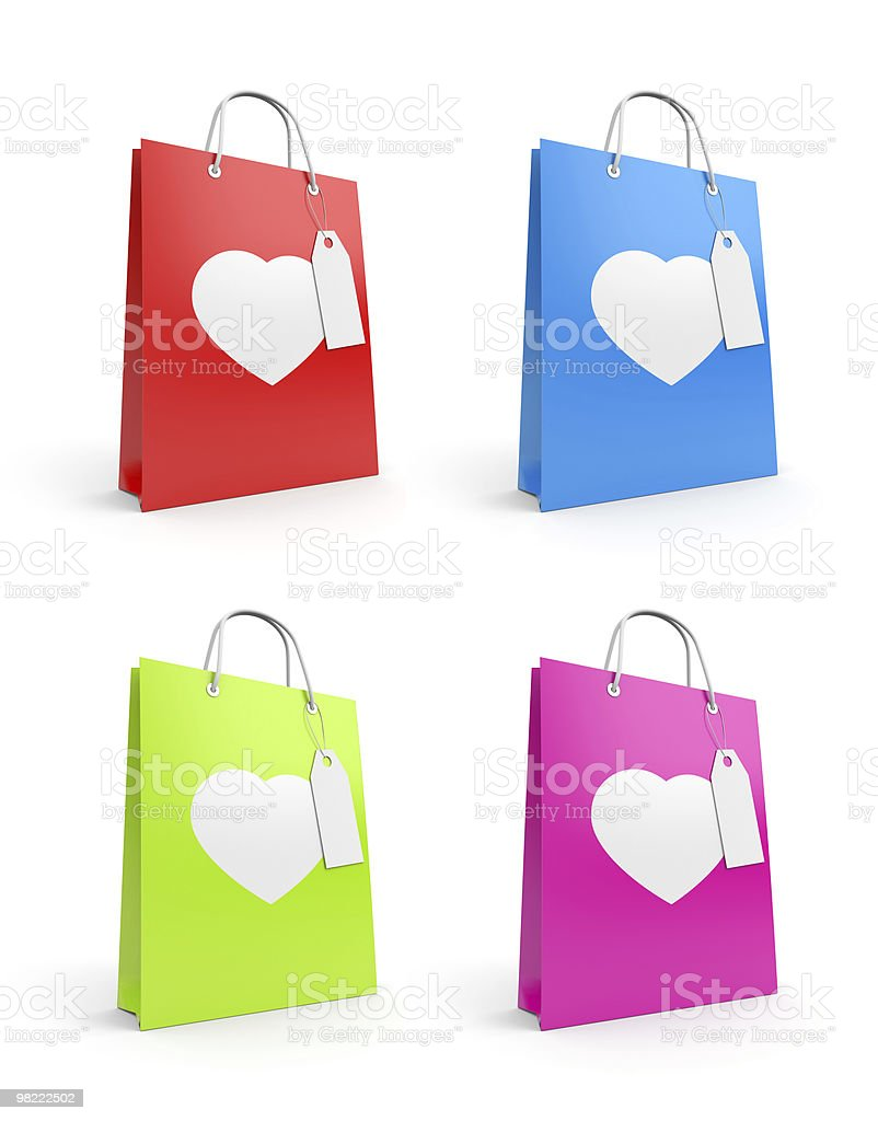 Bags for valentine's day royalty-free stock photo