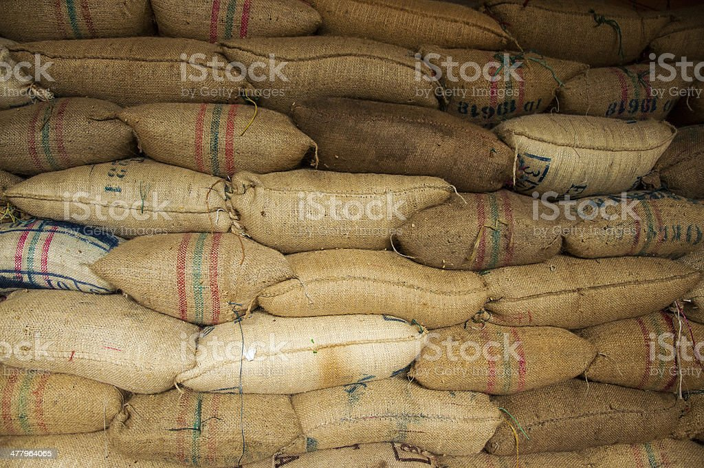 Bags Full of Coffee stock photo