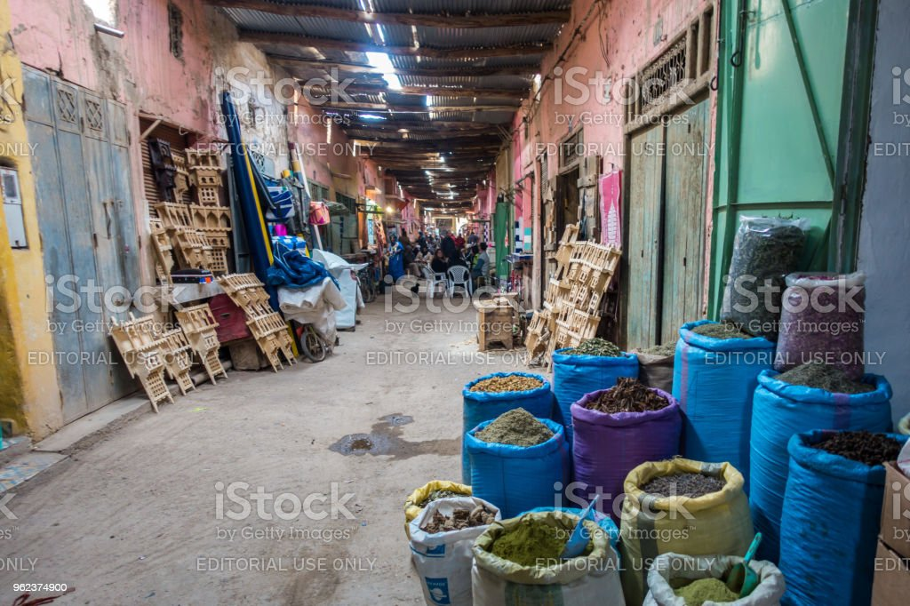 Bags Of Spice For Sale At Rissani Souk Morocco Stock Photo - Download Image  Now