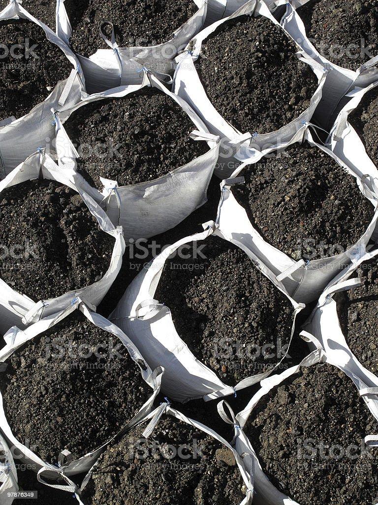 Bags Of Topsoil stock photo
