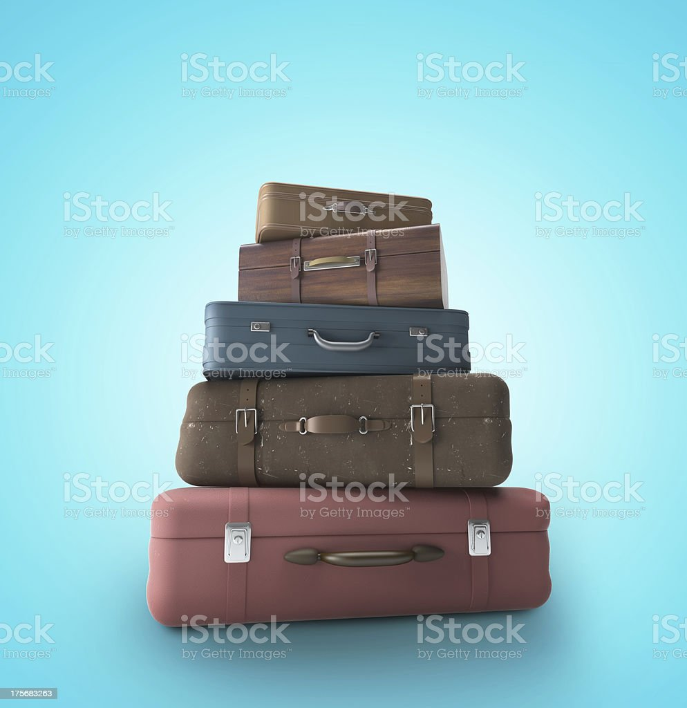 bags on beach royalty-free stock photo