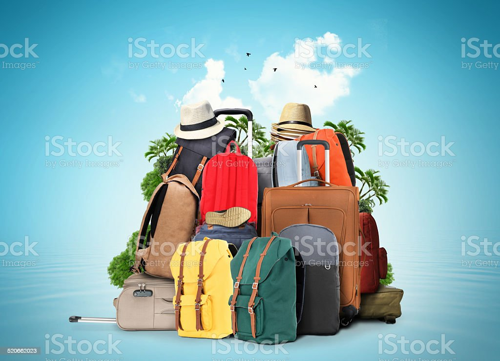 Bags travel stock photo