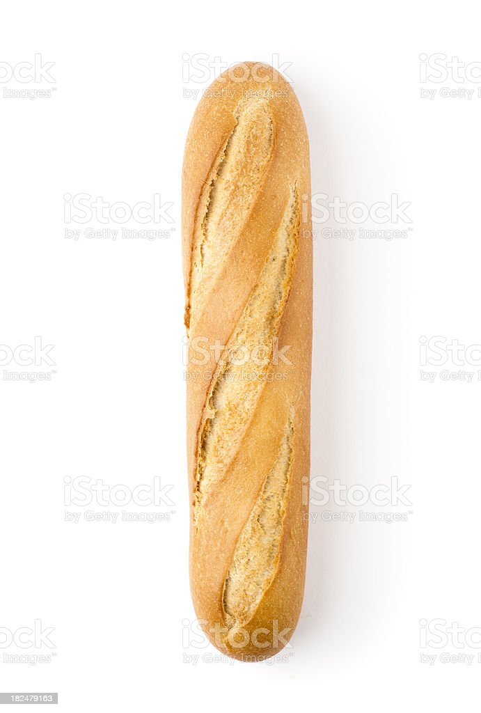 Baguette isolated on white royalty-free stock photo