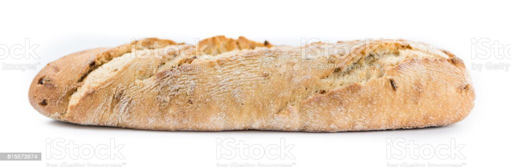 Baguette isolated on white stock photo