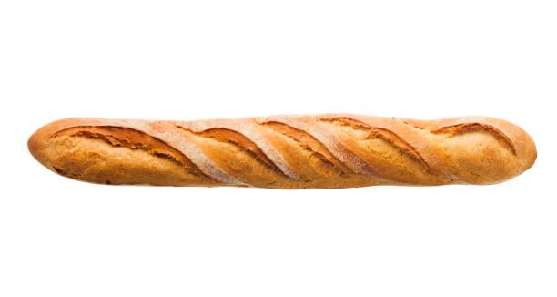 baguette braten der französischen brot, backwaren, isoliert auf weiss - brot ohne weizen stock-fotos und bilder