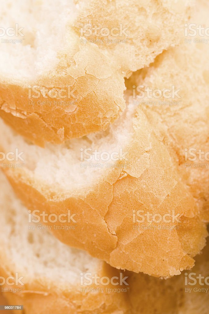 baguette slices royalty-free stock photo