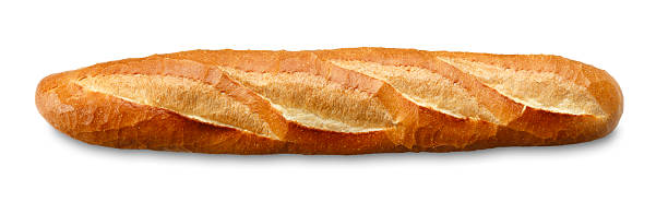 Baguette/clipping path stock photo