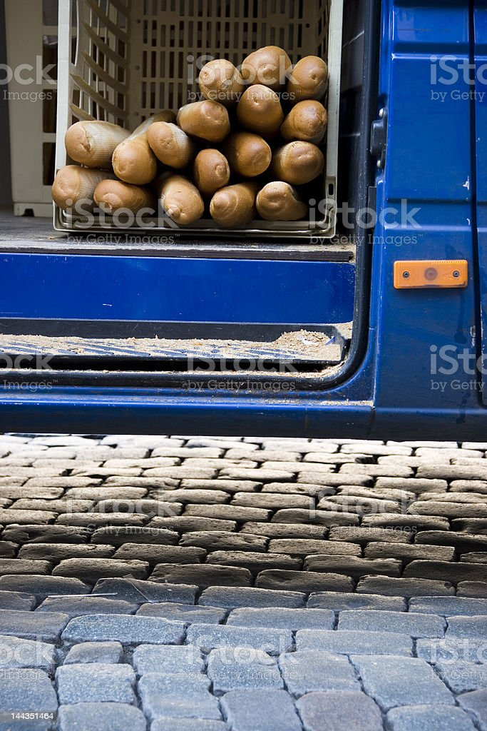Baguettes for Delivery royalty-free stock photo