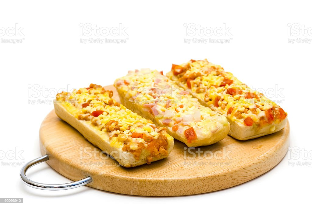 Baguettes isolated on white stock photo