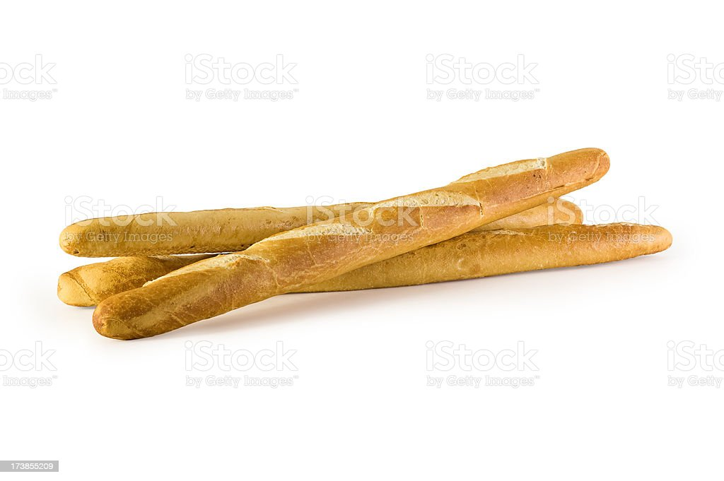 Baguettes w/Clipping Path stock photo
